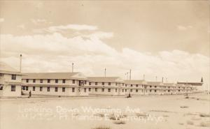Barracks Looking Down Wyoming Avenue Ft Francis E Warren Wyoming Real Photo