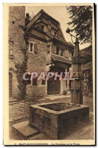 Postcard Old Hochk?nigsburg La Fontaine and the Forge