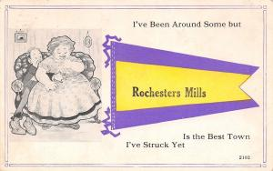 Rochester Mills PA Squashed Man: I've Been Around Some, I Struck Here Best 1916