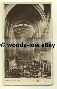 cu1855 - Interior of an Unknown Parish Church in Leeds, Yorkshire - Postcard