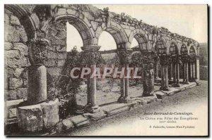 Saint Bertrand de Comminges Old Postcard The cloister with pillar Evangelists