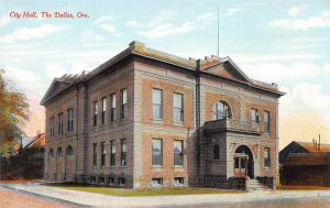 City Hall, The Dalles, Oregon, Early Postcard, Unused