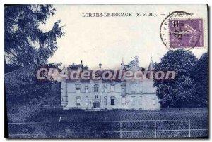 Postcard Old Lorrez Le Bocage the castle
