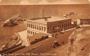 Cal. San Francisco, Seal Rocks from the Cliff House, auto car 1912