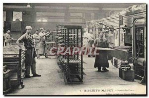 Old Postcard Biscuits Olibet Paris Exit ovens