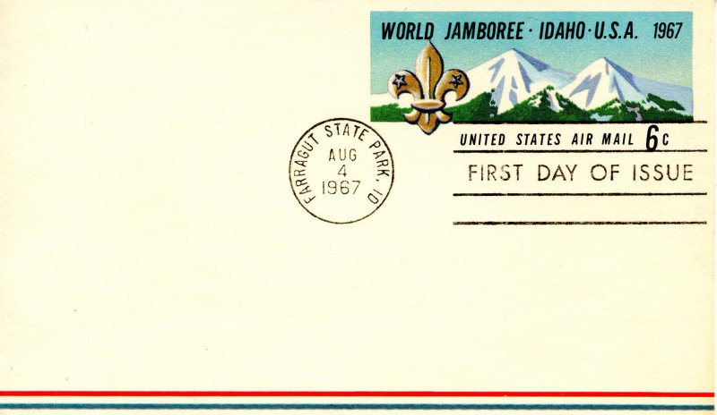 Scouting - 1967 World Jamboree, Idaho. Postal Card First Day Issue