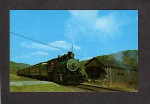 VT Bartonsville Steam Train Railroad Engine Bellows Falls Vermont Postcard