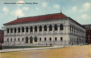Boston Public Library, Boston, Massachusetts, Early Postcard, Unused
