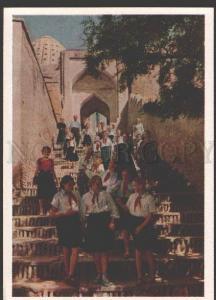 109031 Uzbekistan SAMARKAND Shah Zindeh Stairway Pioneers OLD