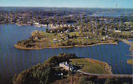Air View Of Miles Memorial Hospital And Village Waterfront On Damariscotta Ri...
