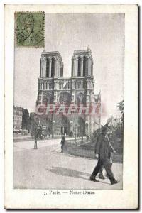 Old Postcard Paris Notre Dame