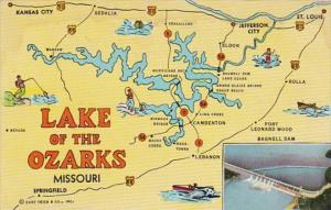 Map Of The Lake Of The Ozarks Missouri Curteich