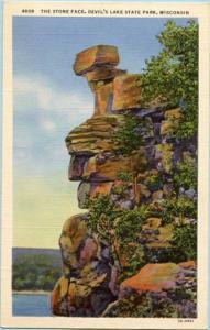 WI - Devil's Lake State Park, Stone Face