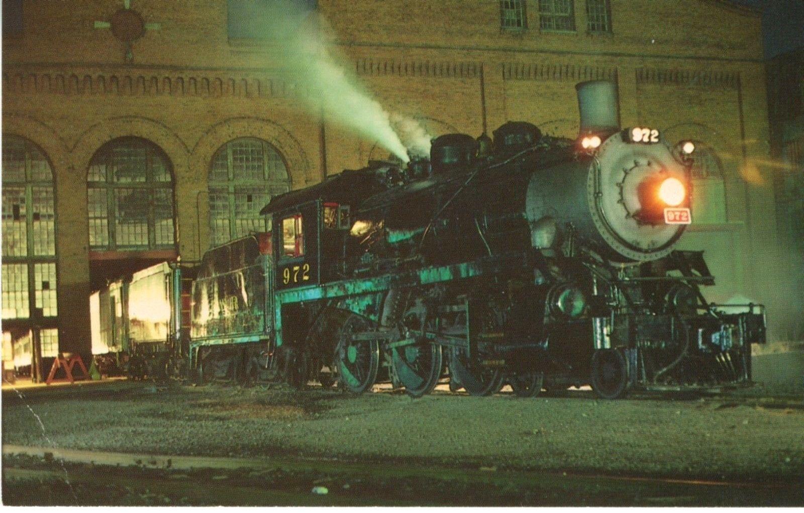 Reading PA, Penn  Philadelphia & Reading Locomotive 972 Postcard