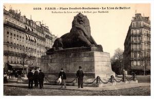 19454  Paris Place Denfeut-Rocheveau, Le Lion de Belfort