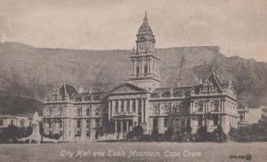 South Africa Cape Town City Hall Antique Postcard Cape Town Publisher EX+++