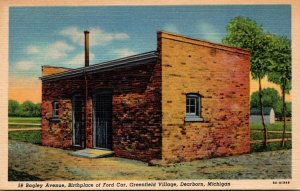 Michigan Dearborn Greenfield Village Bagley Avenue Birthplace Of Ford Car Cur...