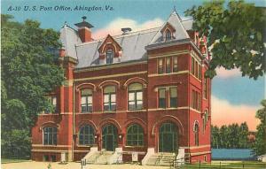 Linen of Post Office Abingdon Virginia VA