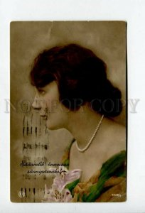 3157517 Belle Lady w/ Flowers & beads Vintage PHOTO NPG PC