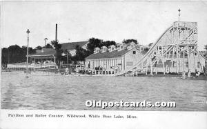 Pavilion and Roller Coaster, Wildwood White Bear Lake, Minnesota, MN, USA Unu...