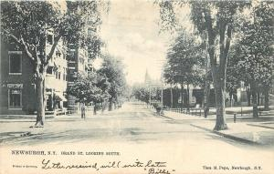 Newburgh New York~Grand Street Looking South~Buildings~Business~1905 TUCK