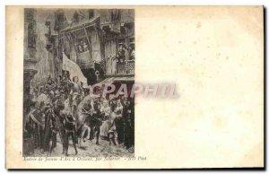 Old Postcard Entree Jeanne d & # 39Arc has Orleans by Scherrer