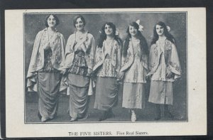 Theatrical Postcard - The Five Sisters - Five Real Sisters    RS18750