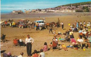 Post Card Somerset WESTON-SUPER-MARE The Sands and Knightstone