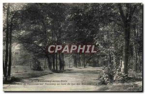Old Postcard Fontenay Sous Bois De Vincennes woods On Fontenay Lakeside Minimes