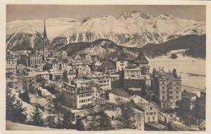 RP: DORF, Switzerland, 1900-10s; Bird's Eye View of St. Moritz