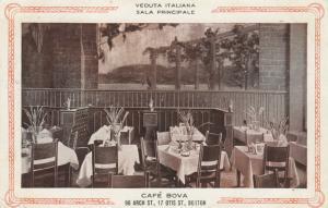 BOSTON, Massachusetts, 1914 ; Cafe Bova , Interior