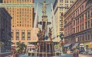 Ohio Cincinnati Tyler Davidson Fountain 5th Street Fountain Square Carew Towe...