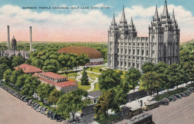 SALT LAKE CITY, Utah, 1940; Mormon Temple Grounds