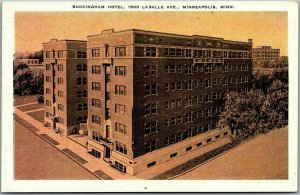 Minneapolis, Minnesota Postcard BUCKINGHAM HOTEL 1500 La Salle Ave. c1940s Linen