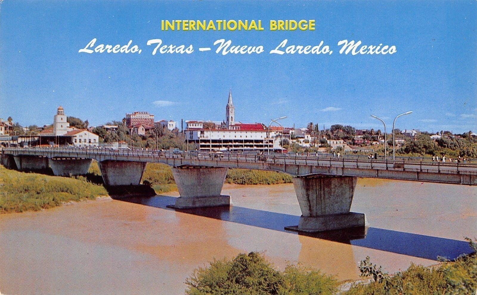 Laredo TX~Nuevo Laredo International Border Bridge~Muddy Rio