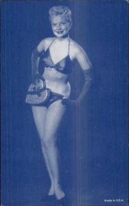 Sexy Pin-Up Woman Semi Nude Arcade Exhibit Card c1920s-30s #1