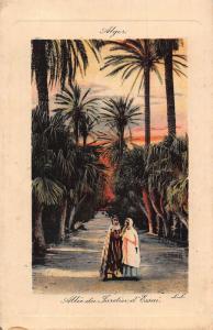 Algeria Alle du Jardin d'Essai Gardens Esplanade Postcard