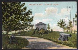 Ontario KINGSTON MacDonald Park - Jan19/08 - Private Post Card - Divided Back