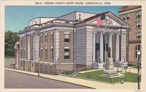 Tennessee Greeneville Greene County Court House
