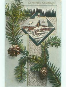 Divided-Back CHRISTMAS SCENE Great Postcard W9635