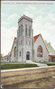 Augusta ME - Penny Memorial Free Baptist Church, 1910s
