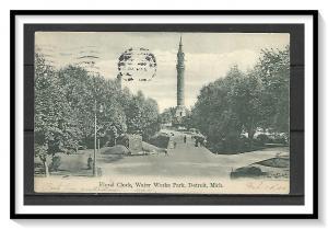 Michigan, Detroit - Floral Clock - Water Works Park - Undivided - [MI-017]