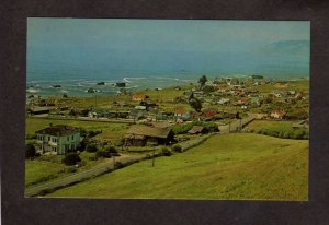 CA View of Westport California Fishing village Postcard
