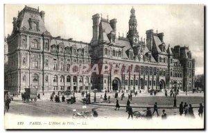 Old Postcard The Paris Hotel De Ville