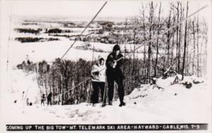 Wisconsin Hayward Cable Skiers Coming Up The Big Tow Mount Telemark Ski Area ...