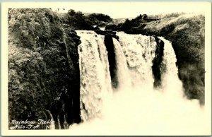 1940s HILO, T.H. / Hawaii RPPC Real Photo Postcard RAINBOW FALLS - Unused