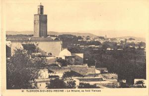 BF9017 tlemcen sidi bou medine le minaret au fond tlemc algeria     Algeria