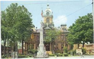 Guernsey County Court House, Cambridge, Ohio, OH, Pre zip code Chrome
