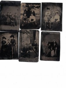 Tin Type Photos ,  6 different couples, families with children,