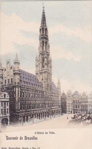 Belgium Brussells L Hotel De Ville Souvenir De Bruxelles